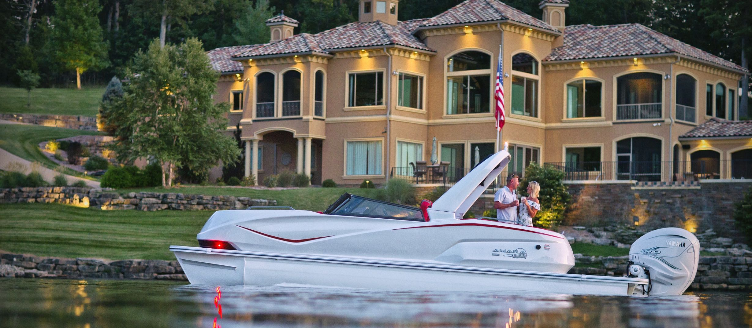 AMARA Pontoon Boat from SunCatcher Pontoons